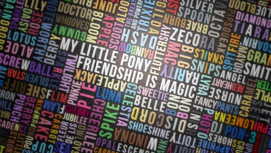 MLP:FiM Typography Wall