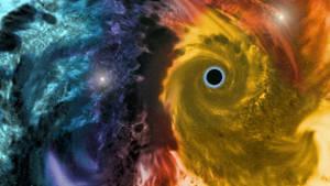 Dark Hole in the Parot Nebula