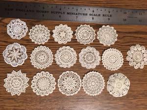 Miniature Crocheted Doilies