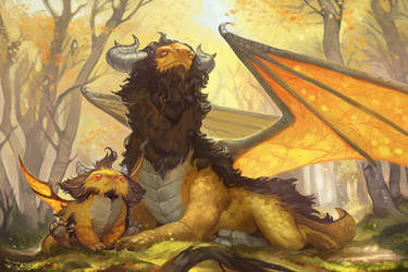 Wooly Dragon Family Portrait by Awesome-Deviant-Name