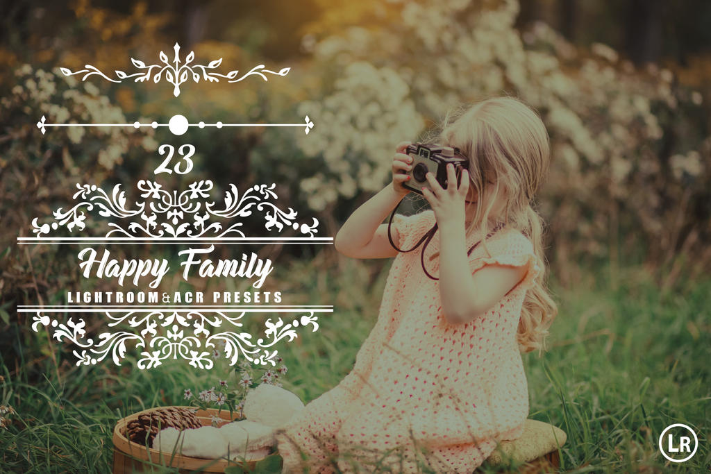 23 Happy Family Lightroom and Camera RAW Presets by hubafilter