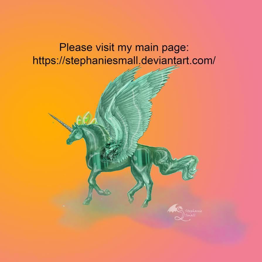 Malachite Pegacorn Unicorn Horse Pony Pegasus by StephanieSmall3