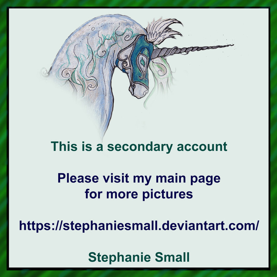 Unicorn Horse Pony Silver Grey Rainbow Fantasy Win by StephanieSmall3