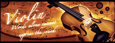 Violin banner by Xadiant