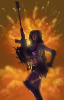 Angel Falls: The Gun Maiden is here! by SebastiansSire