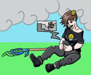 Commission: Goth Gamer Girl Change tg
