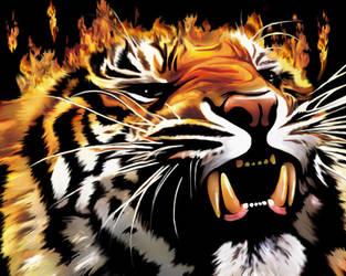 Fire Tiger's Power by Bluedarkat