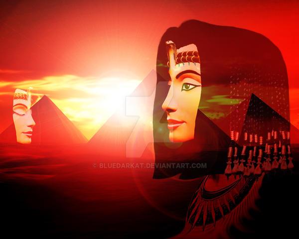 The Queen on Dreamy Egypt by Bluedarkat