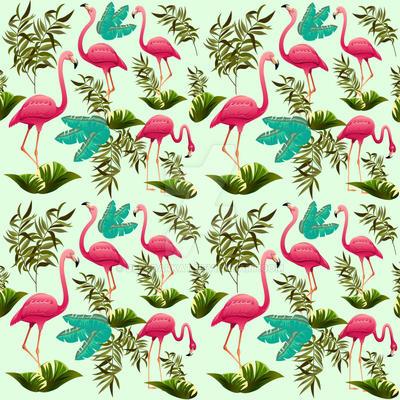 Pink Flamingos Pattern by Bluedarkat