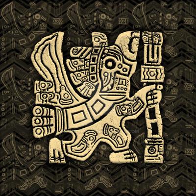Aztec Eagle Warrior Grunge Bas-relief by Bluedarkat