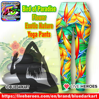 Bird of Paradise Yoga Pants - Design BluedarkArt by Bluedarkat