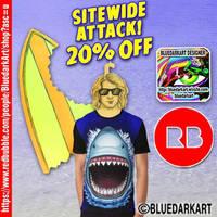 Shark Attack t-shirts  Design by BluedarkArt by Bluedarkat