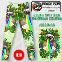 Sloth spitting Rainbow Colors - by BluedarkArt by Bluedarkat