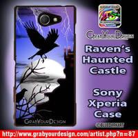 Raven's Haunted Castle Phone case - by BluedarkArt by Bluedarkat