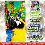 Macaw Fantasy Beach Towel  by BluedarkArt