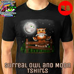 Surreal Owl  Moon Tees  by BluedarkArt