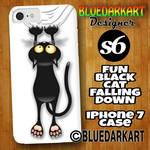 Fun Black Cat iPhone7 Case  by BluedarkArt