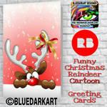 Fun Reindeer Christmas Cards  by BluedarkArt