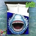 Shark Attack Duvet Cover  by BluedarkArt