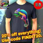 Chameleon Psychedelic Tshirts - by BluedarkArt