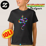 SOLD! #Snake #Psychedelic #rainbow #Kids #Tshirts