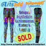 Octopus Psychedelic Leggings by BluedarkArt