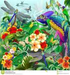The Chameleon hunting Vector Art by BluedarkArt
