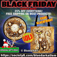Black Friday Sale! BluedarkArt's Society6 Shop by Bluedarkat