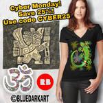 Cyber Monday on BluedarkArt's Redbubble Shop