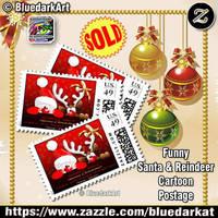 Funny Christmas Stamps  by BluedarkArt by Bluedarkat