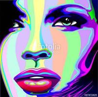 Psychedelic Girl Vector Art by BluedarkArt  by Bluedarkat
