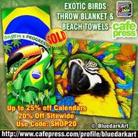 Exotic Birds Designs by BluedarkArt  by Bluedarkat
