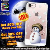 Cute Magical Snowman iPhone Case by BluedarkArt by Bluedarkat