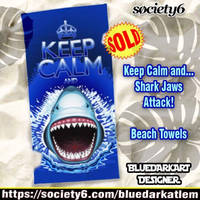 Shark Attack Beach Towels by BluedarkArt by Bluedarkat