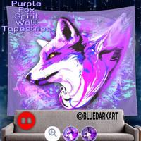 Purple Fox Spirit by BluedarkArt  by Bluedarkat