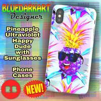 Pineapple Ultraviolet Happy Dude by BluedarkArt by Bluedarkat