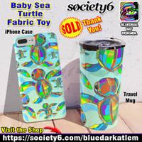 Baby SeaTurtle Fabric Toy Gift ideas - BluedarkArt
