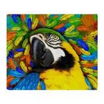 Gold an Blue Macaw Parrot Fantasy by BluedarkArt