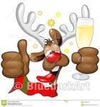 Reindeer Drunk  Christmas Character by BluedarkArt