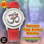 Namaste Floral Symbol Watches by BluedarkArt