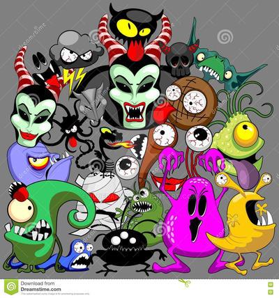 Monsters Doodles Characters Copyright BluedarkArt by Bluedarkat