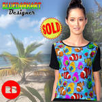 Tropical Fish Pattern Chiffon Tops by BluedarkArt