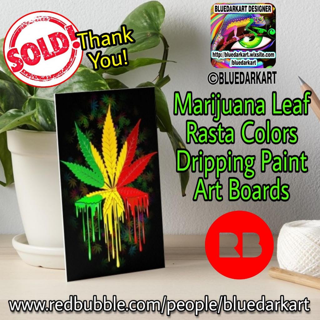Marijuana Lear Rasta Colors by BluedarkArt by Bluedarkat