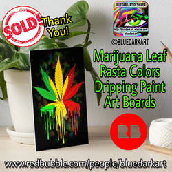 Marijuana Lear Rasta Colors by BluedarkArt by Bluedarkat