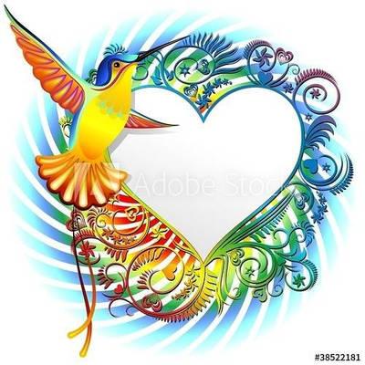 Hummingbird's Love Vector Art by BluedarkArt by Bluedarkat
