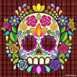 Sugar Skull Naf Mexican Art by BluedarkArt by Bluedarkat