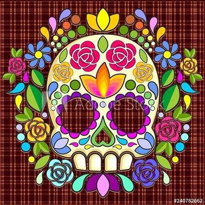 Sugar Skull Naf Mexican Art by BluedarkArt by Bluedarkat