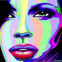 Girl Psychedelic Portrait by BluedarkArt
