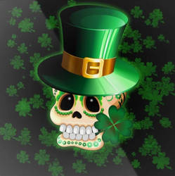 St Patrick's Skull  by BluedarkArt by Bluedarkat