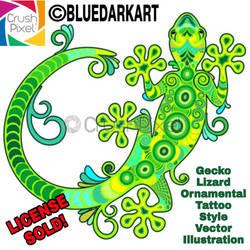 Gecko Tattoo Style Vector -  #BluedarkArt